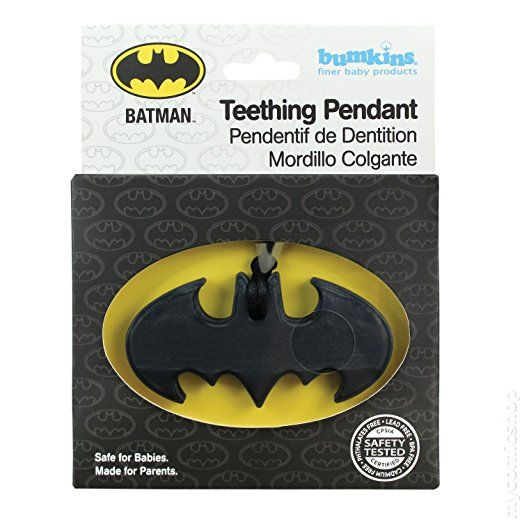 Batman Teething Pendant 2015 Bumkins Comic Books