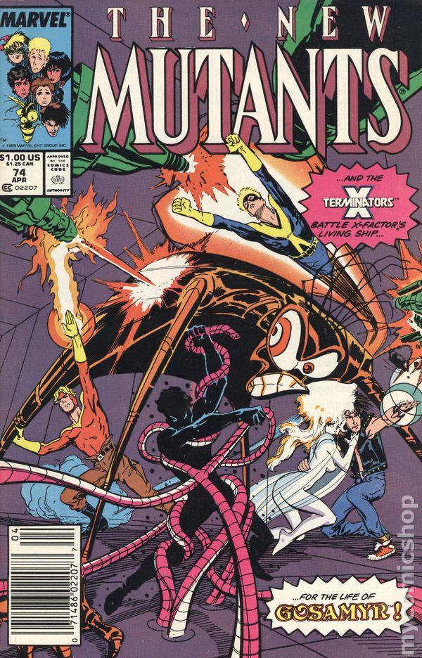 New Mutants #73 FN 1989 Stock Image