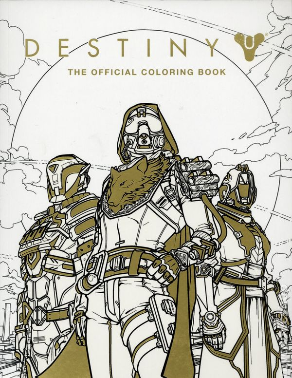 Destiny The Official Coloring Book SC 2017 Insight Editions 1 1ST