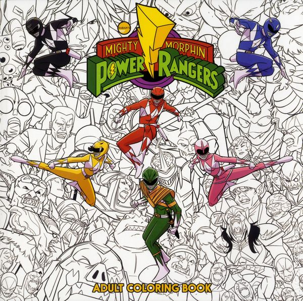 Mighty Morphin Power Rangers Adult Coloring Book SC 2017 Boom Studios 1 1ST