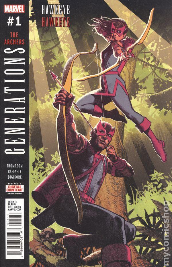 NM Gemini Ship Marvel 2017 Generations Hawkeye /& Hawkeye #1 Greg Horn Variant