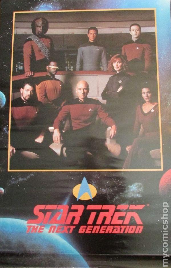 Star Trek The Next Generation Poster 1991 Paramount Comic Books
