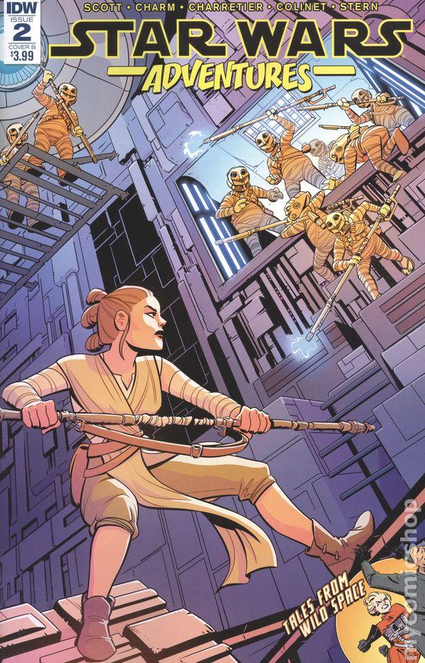 STAR WARS ADVENTURES #1 CHARRETIER COVER IDW COMICS REY
