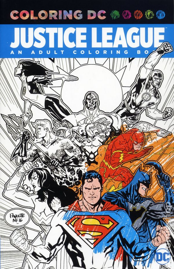 Coloring DC Justice League SC (2017 DC) Adult Coloring Book comic books