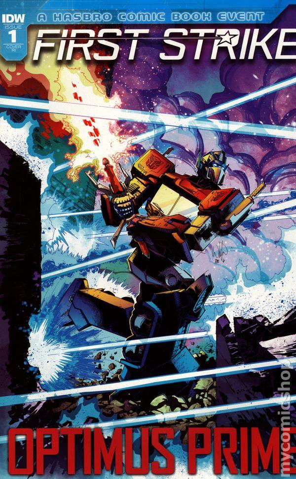 Optimus Prime Annual 1B Griffith Variant NM 2018 Stock Image
