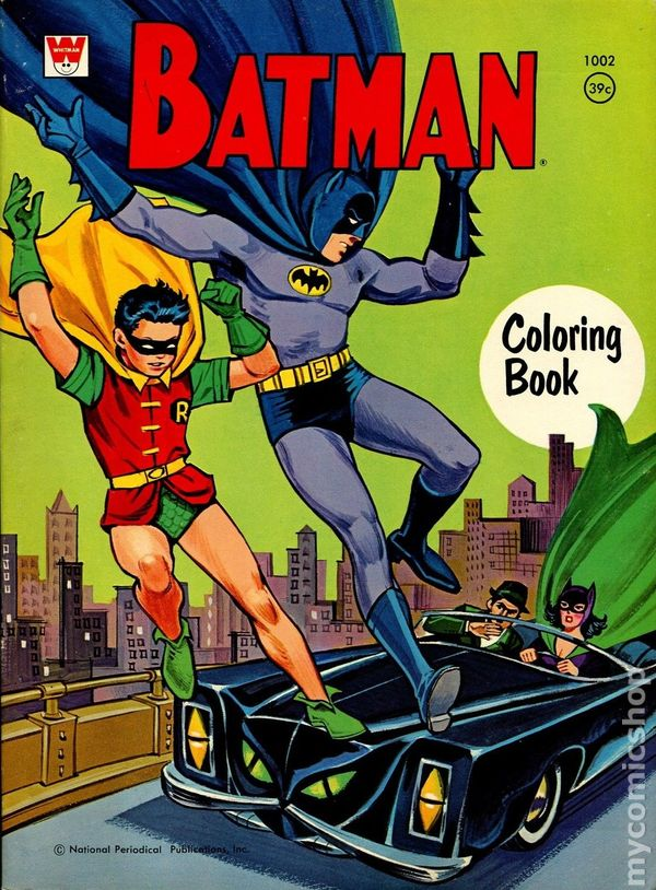 Batman Coloring Book 1967 Comic Books