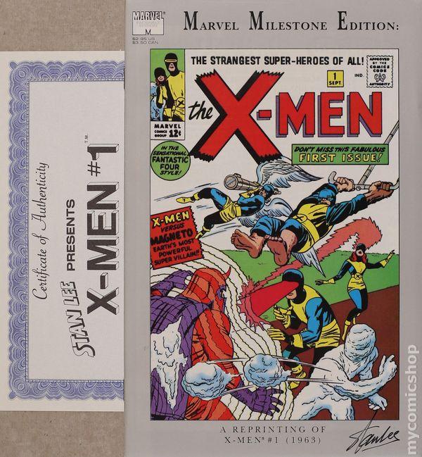 UNCANNY X-MEN #1 MARVEL MILESTONE EDITION REPRINT JACK KIRBY STAN LEE 9.0 VF//NM