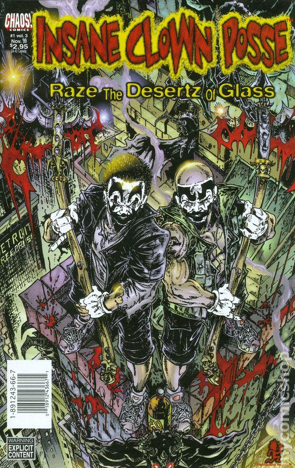 insane clown posse raze the desertz of glass 1999 chaos comic books