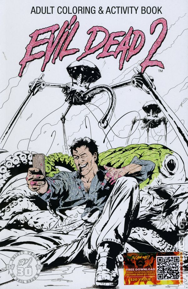 Evil Dead 2 Adult Coloring And Activity Book SC 2017 Space Goat 1B