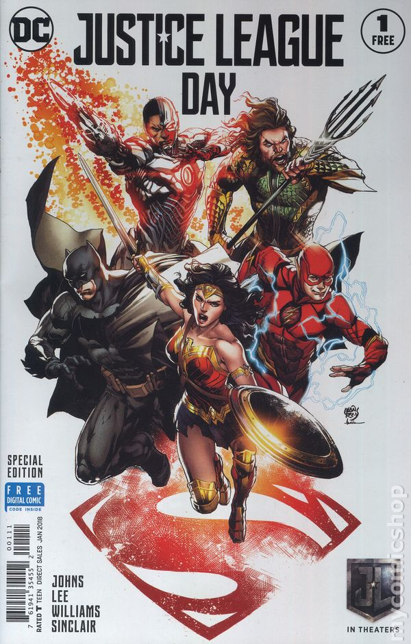Justice League Day Special Edition 2017 Dc Comic Books