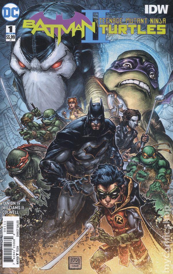 BATMAN TEENAGE MUTANT NINJA TURTLES II #1B 2017