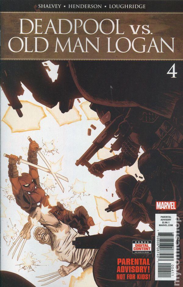 Deadpool Vs Old Man Logan #1 E Shalvey Signed Variant VF+//NM+
