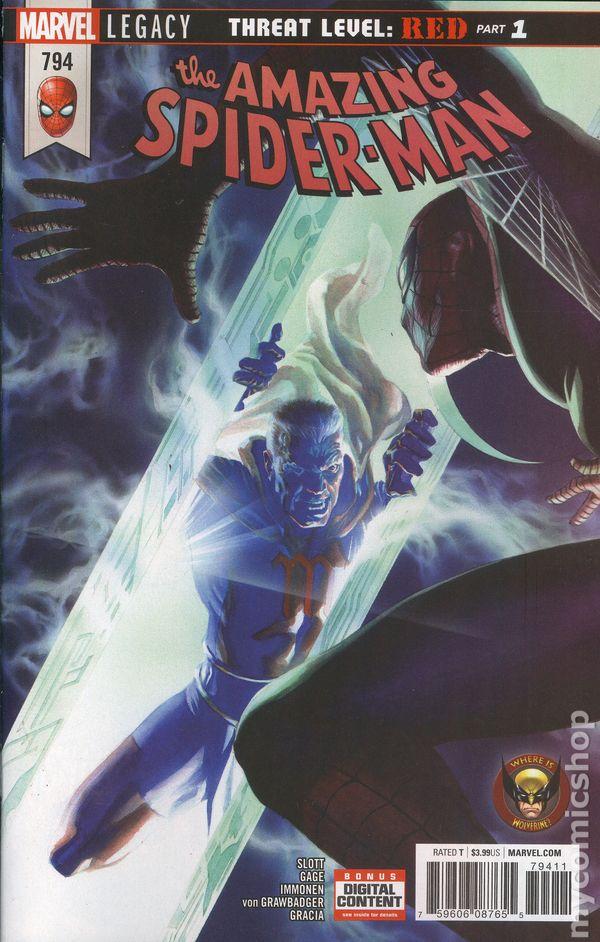 Amazing Spider- Man #794 5th Print NM `18 Slott// Gage// Immonen