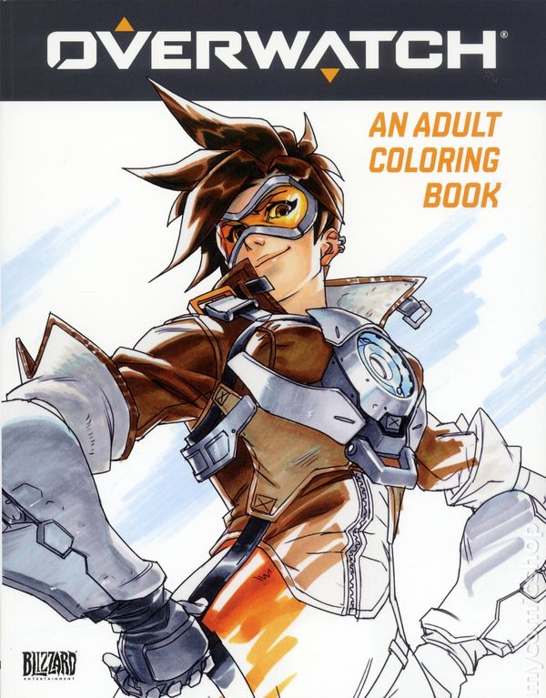 Overwatch An Adult Coloring Book SC 2018 Blizzard 1 1ST