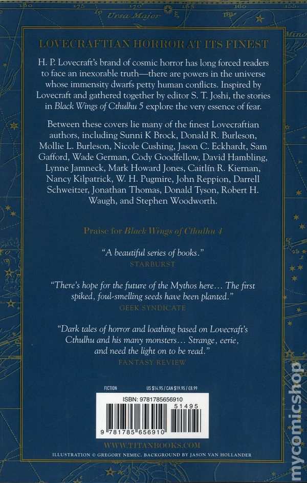 Black Wings Of Cthulhu SC 2012 Titan Books 5 1ST