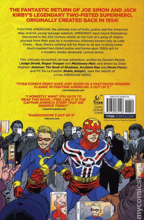 Fighting American TPB (2018 Titan Comics) By Gordon Rennie 1-1ST NM