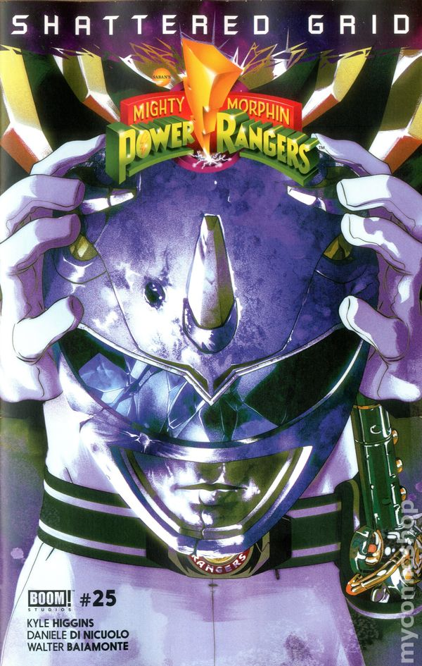 Mighty Morphin Power Rangers #25 2nd Print Variant Shattered Grid Boom NM//M