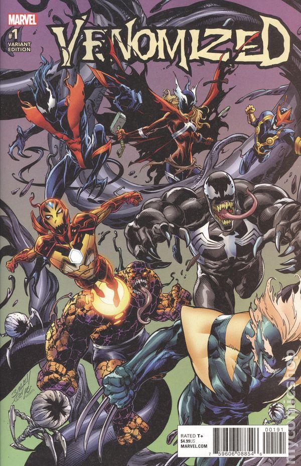 Venomized Marvel #2C 2018 Bagley Variant NM Stock Image