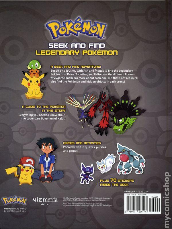 Pokemon Seek And Find Legendary HC 2018 Viz 1 1ST