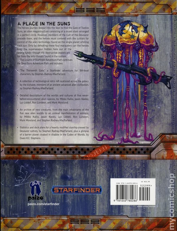 Starfinder Dead Suns Adventure Path SC (2017 Paizo) Role-Playing