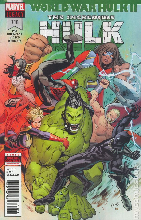 Comic books in spider man incredible hulk 2017 5th series 716 fandeluxe Choice Image