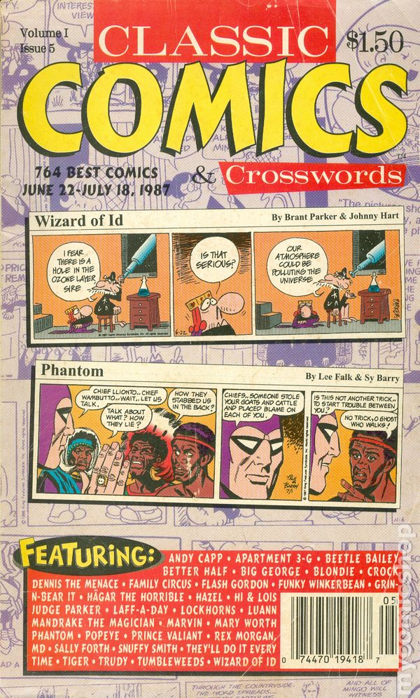 Classic Comics Crosswords (1987 King Features Syndicate) Monthly Vol  1 #5  GD