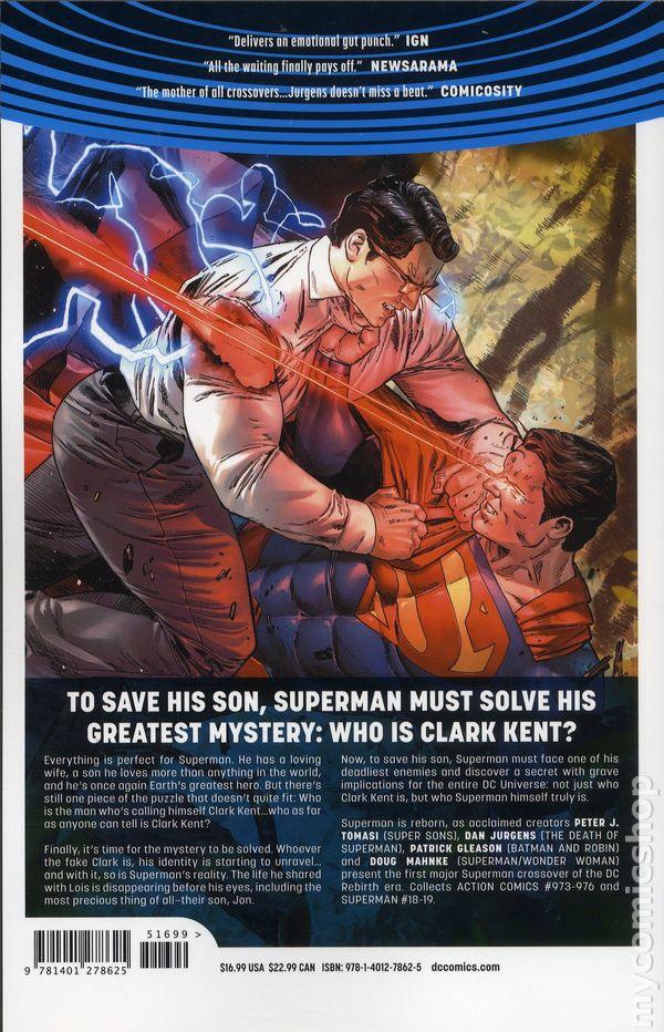 superman reborn tpb 2018 dc universe rebirth comic books
