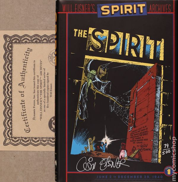 WILL EISNER THE SPIRIT DC COMICS SPIRIT ARCHIVES PROMOTIONAL BOOKMARK 2000