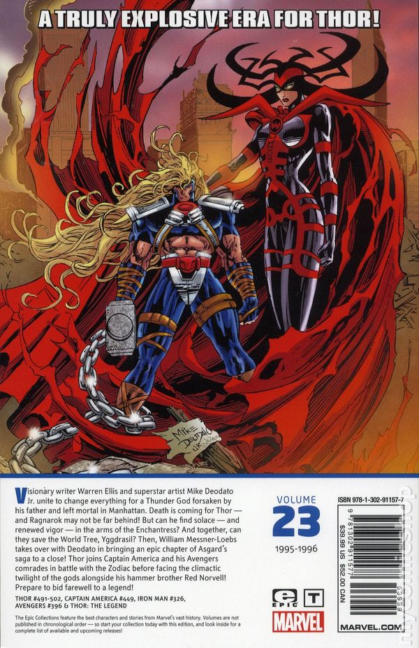 Thor The Fall of Asgard TPB Epic Collection #1-1ST NM 2018 Stock Image