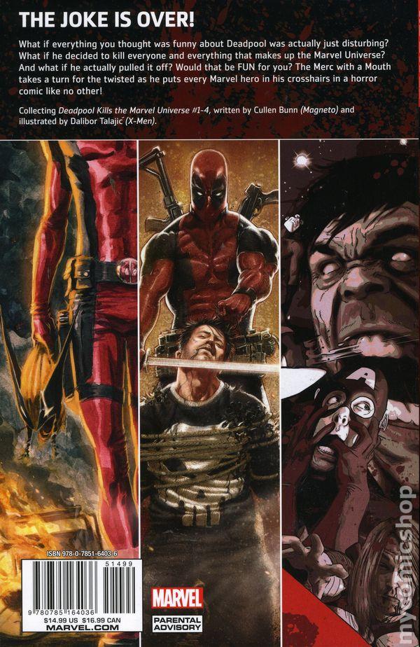 Deadpool Kills The Marvel Universe Tpb 2012 Marvel Comic Books