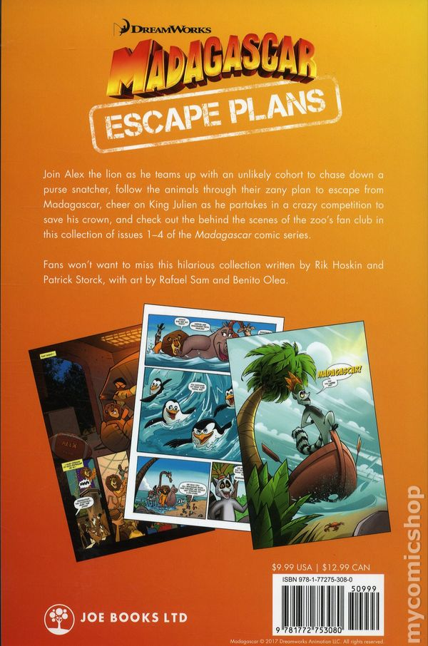 DreamWorks Madagascar Escape Plans TPB (2018 Joe Books) 1-1ST NM