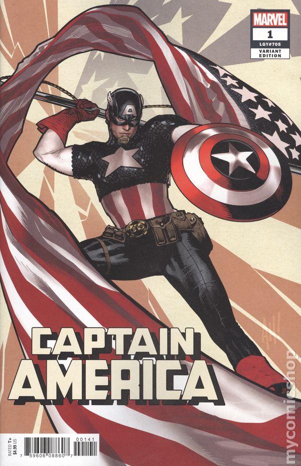 Captain America #23B Ross Timeless Variant NM 2020 Stock Image