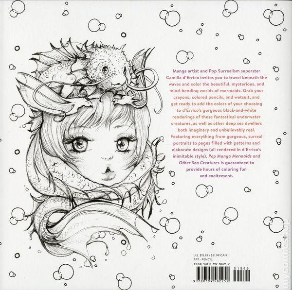 Pop Manga Mermaids And Other Sea Creatures Coloring Book SC (2018  Watson-Guptill) Comic Books