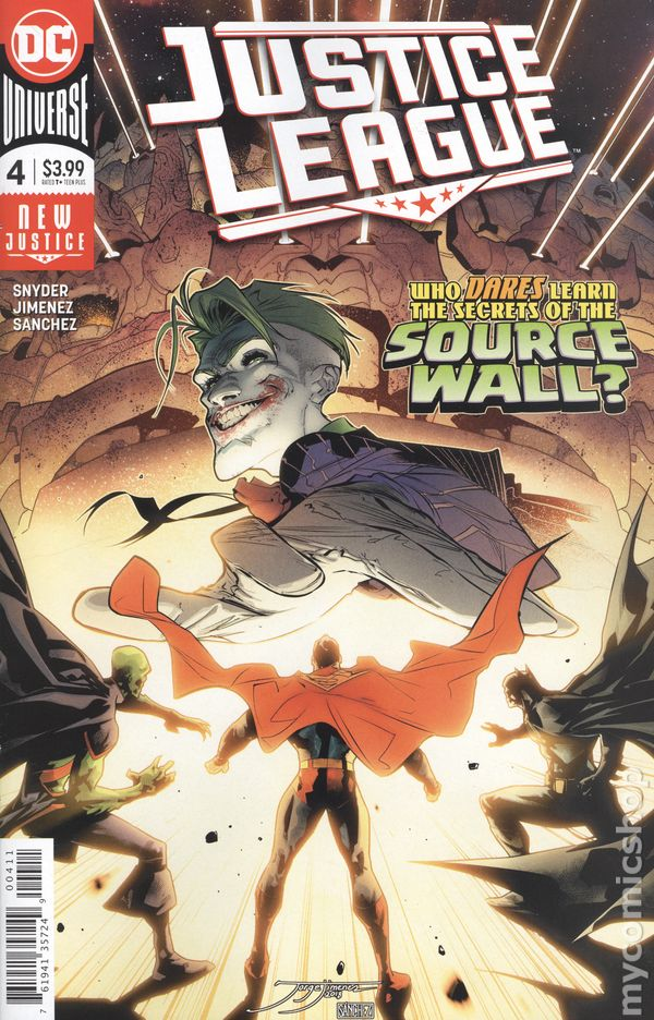 Justice League of America #4A Finch Variant NM 2013 Stock Image