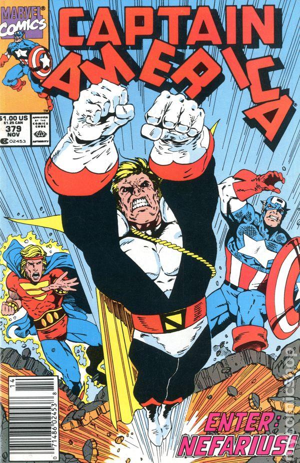 Captain America Mark Jewelers #375MJ FN 1990 Stock Image