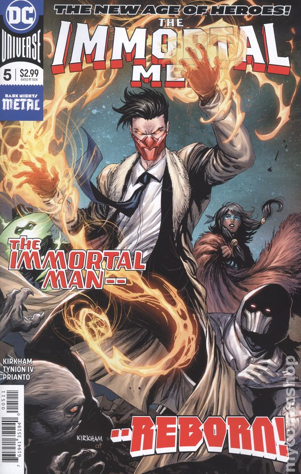 CLEARANCE THE IMMORTAL MEN #1 #2 or #3 DC comics NM 2018 YOU PICK