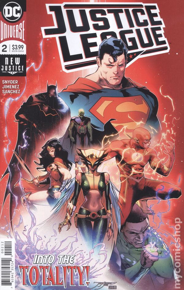 Justice League #12A Jimenez Variant VF 2019 Stock Image