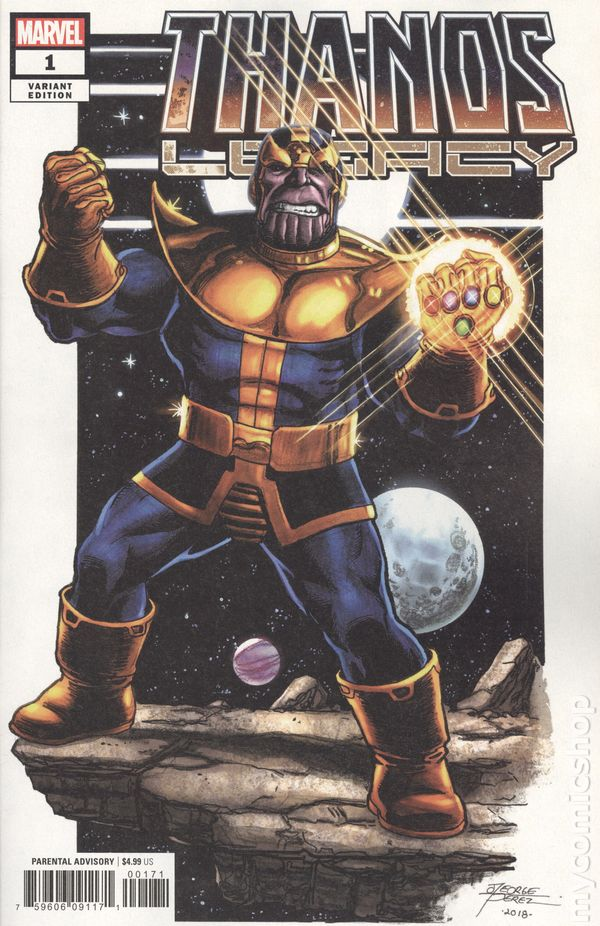 Thanos #1  Gerado Zaffino Variant  1st Print  1st Print   CGC 9.8