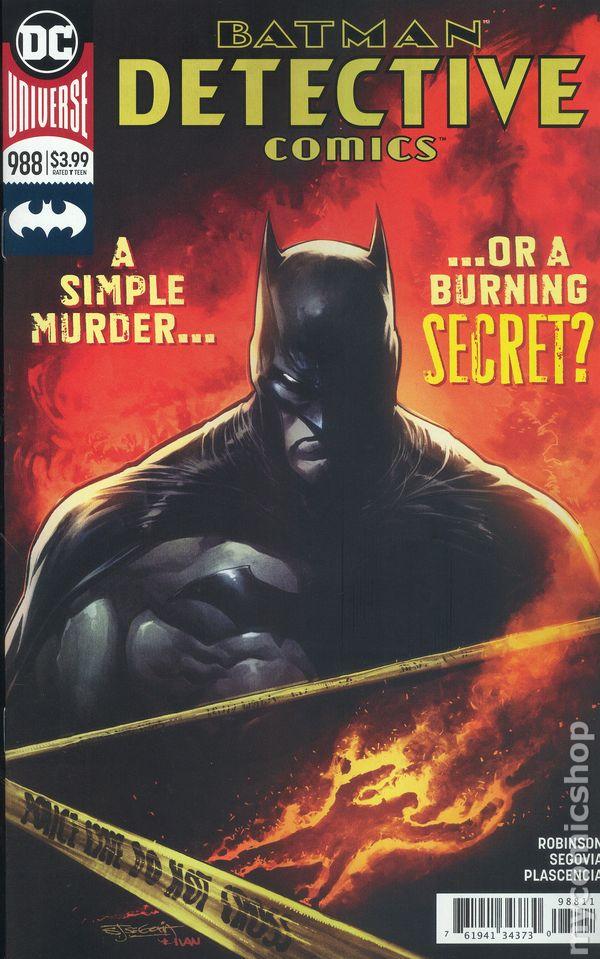 2018 DC UNIVERSE Comics ~ VF//NM Comic Book BATMAN DETECTIVE COMICS #988a