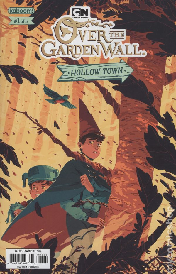 Book garden wall comic over the