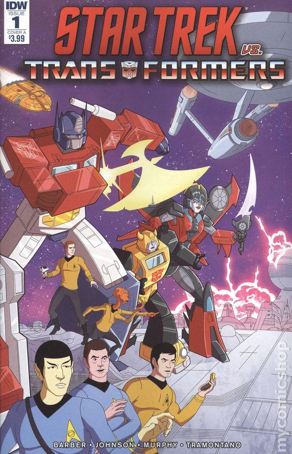 TRANFORMERS #4b ~ VF//NM Comic Book ⭐️ STAR TREK vs 2018 IDW Publishing Comics