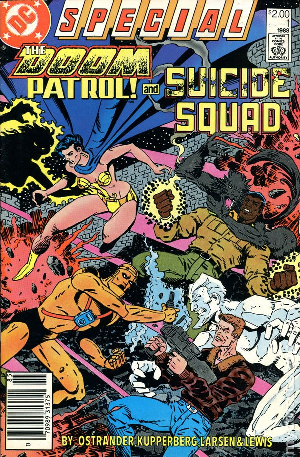 Doom Patrol And Suicide Squad 1988 Canadian Price Variant Comic