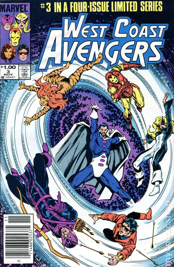 Limited Series #1 1984 FN Stock Image West Coast Avengers
