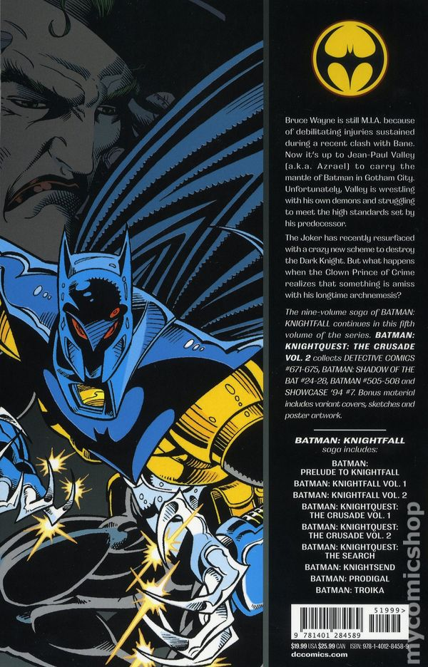 Vol.1 Doug Moench /& Mike Manley No.502 Batman 1993 Knightquest The Crusade