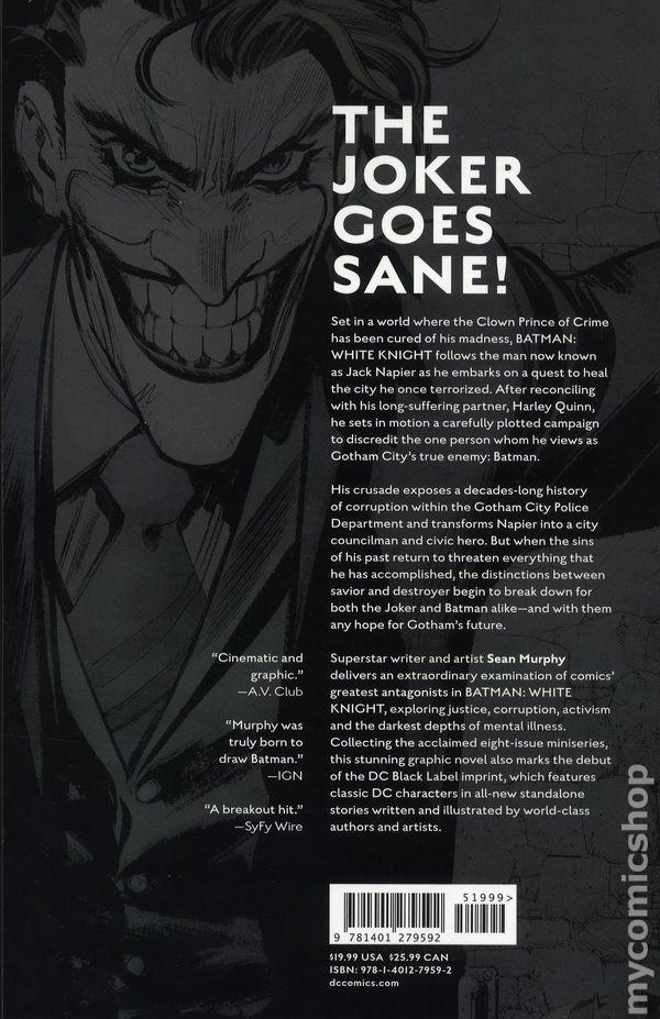 BATMAN WHITE KNIGHT PRESENTS VON FREEZE #1 JANSON VARIANT DC COMICS NEAR MINT