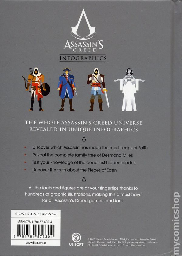 Assassin S Creed Infographics Hc 2018 Ilex Press The Official