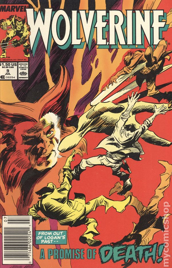 1988 2nd SERIES WOLVERINE #7 VERY FINE HULK APP NEAR MINT MARVEL COMICS
