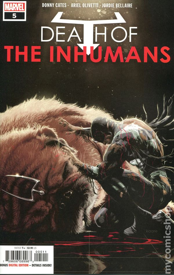 Death of the Inhumans #3A Andrews Variant NM 2018 Stock Image
