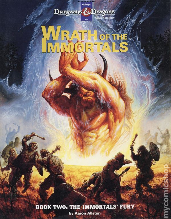Dungeons And Dragons Game Accessory Wrath Of The Immortals 1992