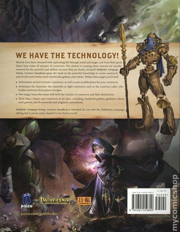 Pathfinder Campaign Setting: Construct Handbook SC (2018 Paizo